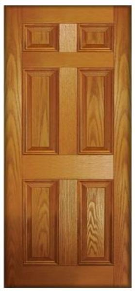 ... Classic Solid 6 Panel Oak Composite Door Click Here To Enlarge ...