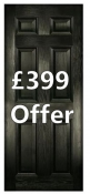 Solid 6 panel style composite door